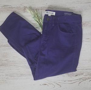 Madewell Purple Skinny Ankle Jeans